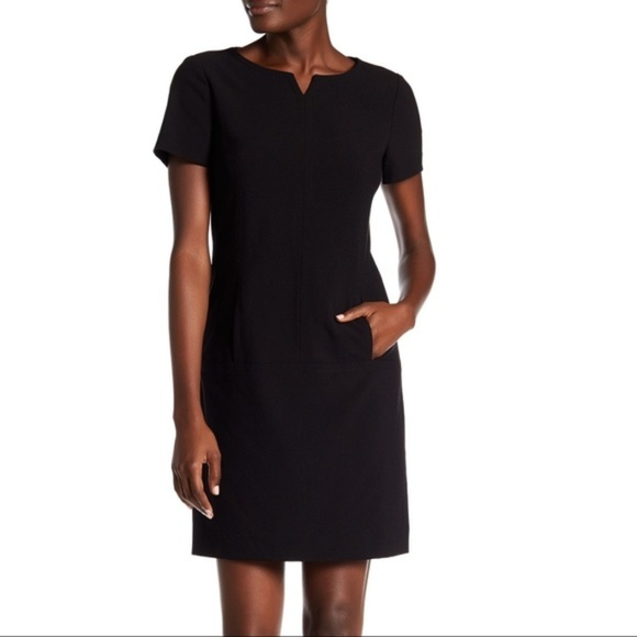 Tahari Dresses & Skirts - NWT Tahari ASL Black Split Neck Sheath Dress, 8